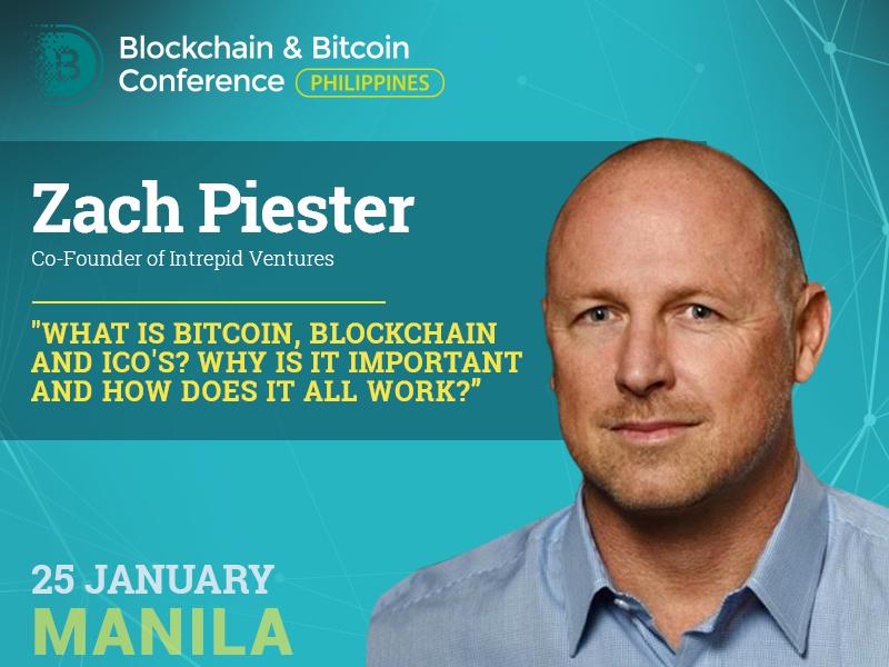 Zach Piester to Talk in Manila