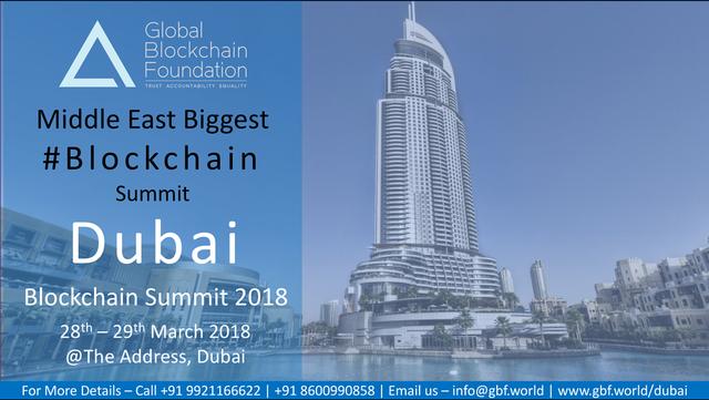 Dubai Blockchain Summit 2018