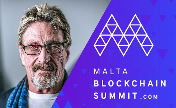 John McAfee Bound for Malta Blockchain Summit