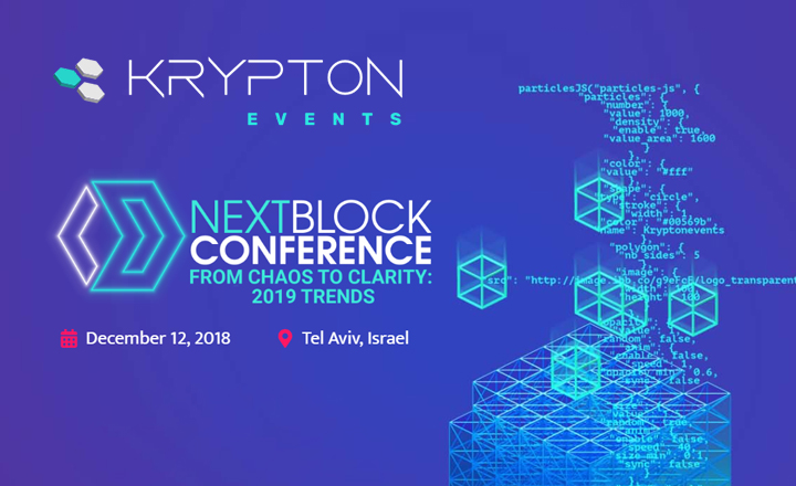 NEXT BLOCK Conference Tel Aviv 2018