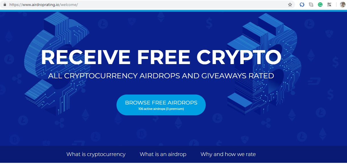 Airdroprating receive free crypto