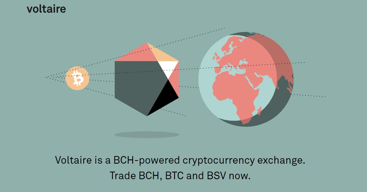 Voltaire Adds BSV/BCH Trading Pair