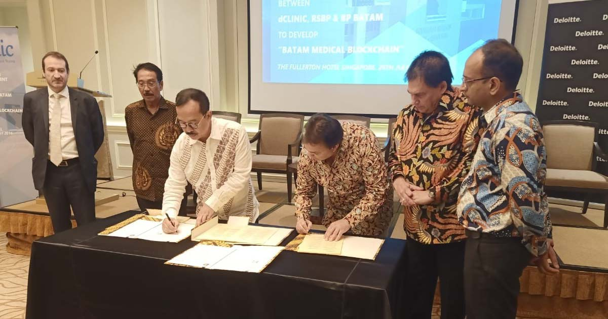 Largest Blockchain Project Signed Between BP Batam, Indonesia and dClinic